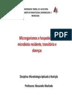 AULA Microrganismos e Hospedeiros