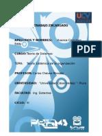 TGS Huanca Cruz Joan Eddy  teoria sistemica de la orgaizacion