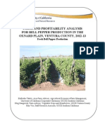 Costs and Profitability Analysis for Bell Pepper Fresh Production