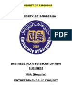 Business Plan to start up new business