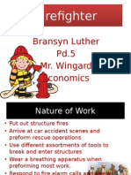 firefighter grad project