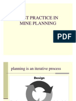 Best Practice in Mine Planning