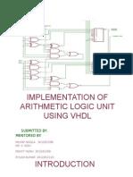 Alu ALU Code for VHDL using XILING