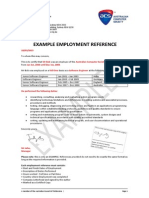 Skilled Employment Reference Example
