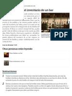 Cómo Gestionar El Inventario de Un Bar _ EHow en Español