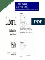 FOUCAULT, Michel. _Qué Es Un Autor_. Trad. Silvio Mattoni. Edelp, Córdoba, 1998.