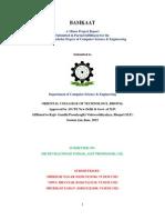 Minor Project Report In Java