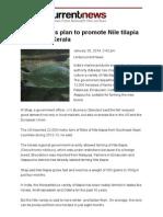 India Readies Plan to Promote Nile Tilapia Farming in Kerala