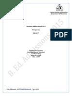 Final B.ed. Prospectus 2015