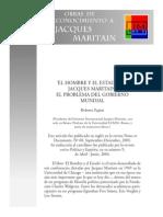 El Hombre y El Estado, El Problema Del Gobierno Mundial de Maritain Por Papini