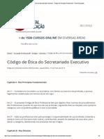 Código de Ética Do Secre...Ional - Portal Educação