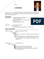 Achraf Kawwa (BS Food Managment 08)