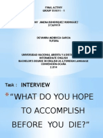 Final Project, Interview. Pp