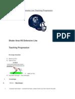 Defensive Line Teaching Progression