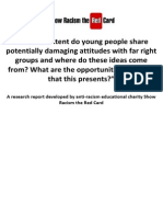 Show Racism the Red Card - 'the Attitudes of Young People'