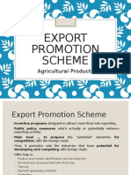 Export Promotion Scheme - Agricultural Products