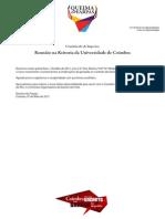 Reunião na Reitoria da Universidade de Coimbra