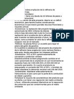 Información Sobre Ampliación de La Refinería de Barrancabermeja