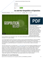 Netanyahu, Obama and the Geopolitics of Speeches _ Stratfor