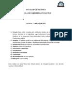 Estructura informes