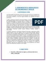 informe de laboratorio de sifilis y clamidiasis