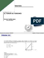 Tensor de tensiones- Resistencia de materiales.