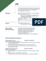resume for wb
