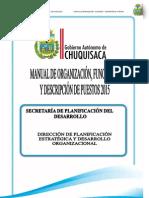 Manual de Organización Funciones y Descripción de Puestos