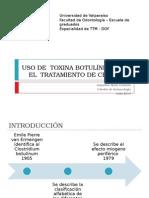 Aplicación de Toxina Botulínica a Para El Tratamiento de Cefaleas