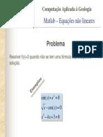 Matlab – Equações não lineares