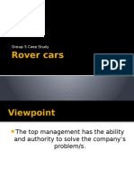rover cars case study