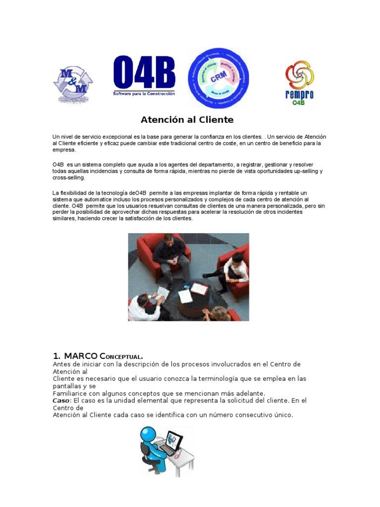 Atención al Cliente O4B