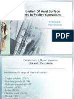 Evolution of disinfectants in poultry operations