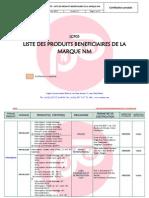 LCP05- Liste Des Produits Bénéficiares de La Marque NM