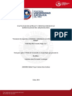 Secuencia de Ocupación, Actividades y Subsistencia en El Abrigo Rocoso Las Brujas, Ica