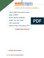 Informe de fisica I (interacciones) -unmsm