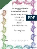 """Informe de la Segunda Practica Educativa en El Centro Preescolar """"Nicolas Bravo"""""""