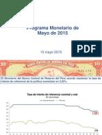 Programa Monetario de Mayo 2015