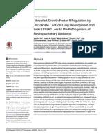 Fibroblast growth factor 9 regulation by microRNAS