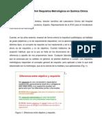 Opciones Para Definir Requisitos Metrologico Quimica Clinica