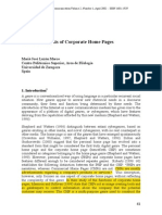 Corporate Webpage Genre