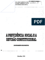Levantamento Bibliográfico Da Previdência Social No Brasil
