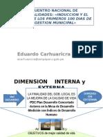 1-EXPOSICION ECM DIMENSIONES y PRESUPUESTO 2015.ppt