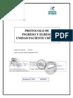 Protocolo de Ingreso y Egreso a UPC 3ª Edición