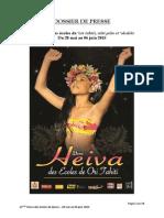 Dossier de Presse Heiva Des Écoles 2015