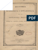 Historia Económica y Estadística de La Hacienda Nacional, De La Colonia a La Repúiblica a La Republica