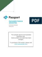 Sample Report Packaged Food
