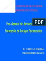 Plan General de Actuación en la Prevención de Riesgos Psicosociales