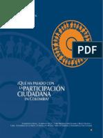Qué ha pasado con la participación ciudadana en Colombia?