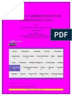 Reading Comprhension for Elementary Level